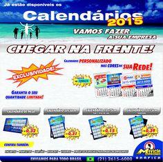 Bom dia, O que você está fazendo para vender mais em 2015?  #imadegeladeira #grafica #mavicle #calendario