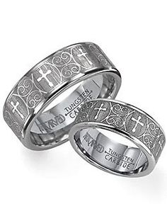 Guys christian inspired wedding bands  sweetmain view of 14kt White Gold Wedding Band With Cross Design Set In  . Mens Cross Wedding Band. Home Design Ideas