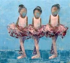 It is the form of the dance not the individuals who create it that we look for. Three little ballerinas anonymously become one with the design of ballet. (My thoughts on the painting). Black Girl Art, Black Women Art, Art Girl, African American Artwork, African Art, Ballet Art, Ballet Dancers, Ballerinas, Ballet Kids