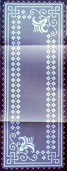 The Roses in Filet Crochet Are |