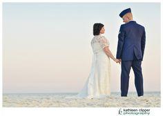 military wedding on the beach.