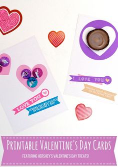 Free #DIY Printable #ValentinesDay cards with sweet treats #Sponsored via @jeanabeena  #HSYMessageOfLove #forkids