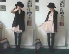 I restored your mother's faith in men (by Ashleigh F.) http://lookbook.nu/look/4735539--Dress-All-Saints-Cardigan-Hat-I-Restored...