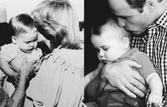 misshonoriaglossop:  Australian Kisses-Diana with William, 1983; William with George, 2014