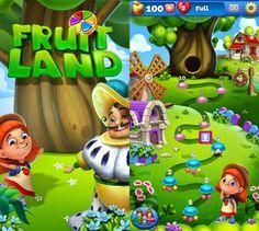 Fruit Land - Juicy Match3 Adventure App by Pacific Enterprises. Elimination Puzzle Apps Game.