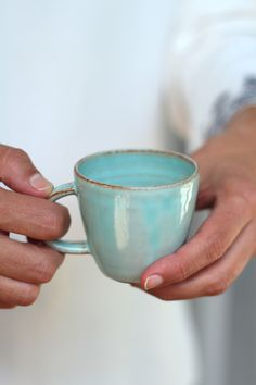espresso mug, turquoise mug, ceramic mug, handmade coffee mug, coffee lovers… Best Espresso, Espresso Cups, Coffee Cups, Coffee Maker, Coffee Coffee, Coffee Break, Coffee Lover Gifts, Gift For Lover, Coffee Lovers