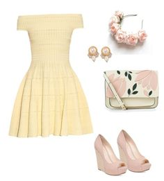 Summery Date by kaleycatron on Polyvore featuring polyvore, moda, style, Alexander McQueen, Jessica Simpson, Accessorize, Carolee, fashion and clothing