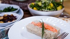 Prep for Passover with @paulashoyer's Fresh Salmon Gefilte Fish Loaf with Arugula, Avocado and Mango Slaw! Catch #homeandfamily weekdays at 10/9c on Hallmark Channel!