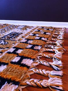 Vintage Mid Century Moroccan Rug