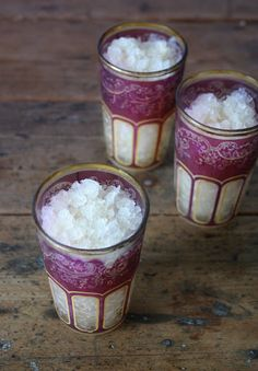 Exotic ingredients spice this drink - LEMONAGRASS AND GINGER VODKA GRANITA