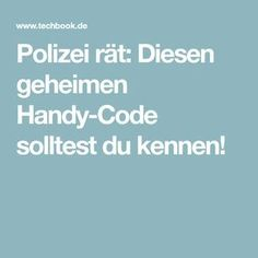 Police advise: This secret cell phone code you should know! - Tips - Schwangerschaft