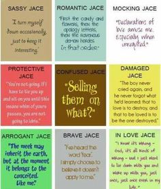 The amazingly witty quotes of Jace Wayland.