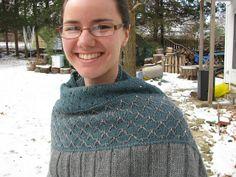 Gorgeous Czarina shawl knit in Valley Yarns Deerfield. >> Ravelry: Bwade's Czarina