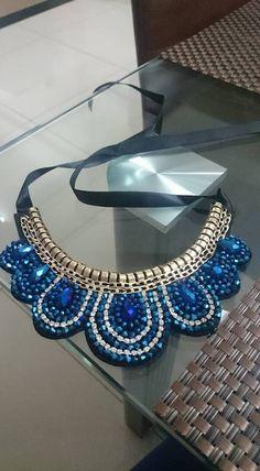 Beautiful Handmade Blue Moon Shaped False by HandicraftsByNew