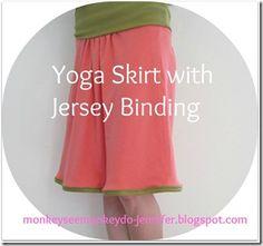 yoga skirt with binding