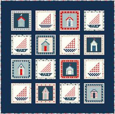 FREE Makower Sea View Quilt Pattern