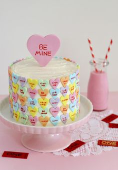 confectionerybliss  Conversation Heart Valentines Cake Butter Hearts Sugar   Ok this is so fucking 0c81cba33e550