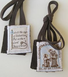 MT. Carmel Scapulars,100% Brown Wool Traditional Catholic Scapular, Made in USA