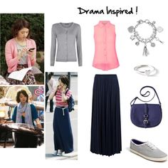 Drama Inspired, Park Shin Hye, Heartstring, You've fallen for me by idresskpop on Polyvore featuring MANGO, NOVA, River Island, Keds, GUESS, Grace + Scarper, Shin Choi, parkshinhye and kdrama