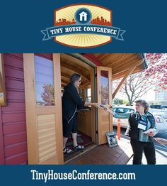 Touring Dee Williams's little red vardo at the 2015 Tiny House Conference