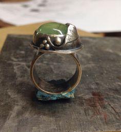 Handmade Jewelry by LjB prehnite ring