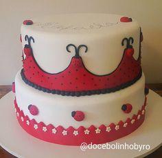 Doce Bolinho by Ro: Bolo Joaninha _ Ladybug