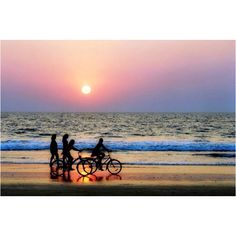 Bike rides on the beach..yes! Love bike rides on the beach my man and I so this every summer with our boys ! :-)