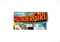 Tabaktasche WONDER WOMAN Comic upcycling Unikat! Tabakbeutel Wundergirl Supergirl Superheldin Comic Tasche Recycling handmade in Berlin von PauwPauw auf Etsy