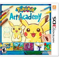 Pokemon Art Academy (Nintendo Grab your stylus and start your pokémon-drawing journey in pokémon art academy, launching this fall exclusively on the nintendo and nintendo systems. This pokémon-themed installment of the art aca Nintendo 3ds Games, Nintendo 2ds, Nintendo Pokemon, Pokemon Fan, Art Academy 3ds, Pokemon Art Academy, Video Game Collection, Cute Games, Geek Girls