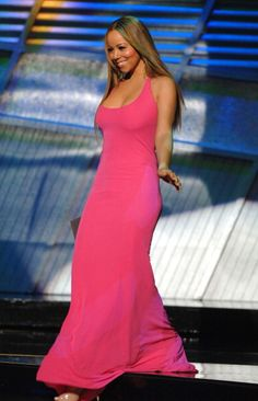 Mariah Carey presents award for Best Male Athlete during 2006 ESPY Awards Show at Kodak Theatre in Los Angeles California United States