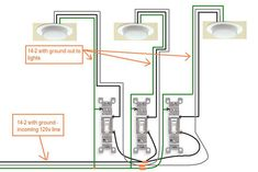 picture of how to wire a light switch | electrical - How do I wire a 3 gang switch in my new bath? - Home ...