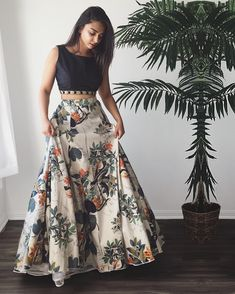 Resort 2.0 Safari Skirt X MKJ Black Zipper Rosette Top Order: info@manijassal.com P.S. My interns also make perfect models