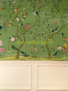 hand painted wallpaper :: chinoiserie wallpaper :: silk wallpaper :: chinese wallpaper :: hand painted silk wallpaper :: hand painted chinese wallpaper :: bespoke wallpaper and custom service Chinese Wallpaper, Silk Wallpaper, Wallpaper Stencil, Hand Painted Wallpaper, Chinoiserie Wallpaper, Metallic Wallpaper, More Wallpaper, Wallpaper Panels, Painting Wallpaper
