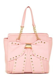 BETSEY JOHNSON Viva La Bow Tote Blush Pink $55 (Was $120!) ANNE'S at THE TRUMP BUILDING NYC annesofnewyork.com
