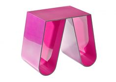 No Cardboard Metallic Pink Side Table by Philipp Käfer for sale at Pamono