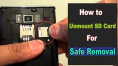 How to Unmount SD Card For Safe Removal(Android)