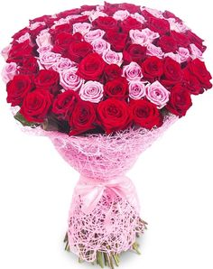Розы Букет 101 роза (70см) - цены от Flor2u.ru Flower Bouquet Diy, Rose Bouquet, Beautiful Rose Flowers, Wonderful Flowers, Red And White Roses, Flower Artwork, Good Morning Flowers, Bunch Of Flowers, Flower Aesthetic
