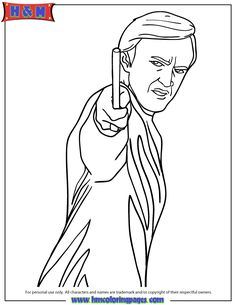 Draco Malfoy Character From Harry Potter Series Coloring Page