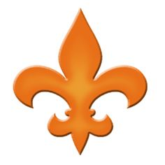 Fleur De Lis Step Marker - Orange (Set of 3) - Pool Mosaic
