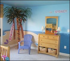 tropical decorating ideas   ... boys - coastal living style - surfing themed bedroom decorating ideas