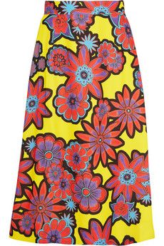 House of Holland Floral-print crepe skirt | NET-A-PORTER