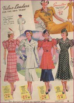 Those prices! Those wonderful styles! #vintage #1930s #fashio #dressses