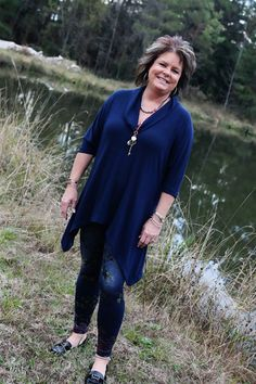 Cowl Neck, Tunic Sweater -Wear Us Out Boutique Conroe/Montgomery, TX