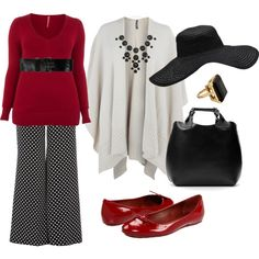 Plus Size Fashion, created by dancinceli on Polyvore