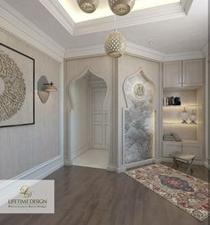 Musholla inspiration / small mosque at home / Islam / Muslim prayer / pray / Sholat / Salah Home Room Design, Interior Design Living Room, Decoraciones Ramadan, Islamic Wall Decor, Prayer Corner, Prayer Room, House Rooms, Home And Living, New Homes