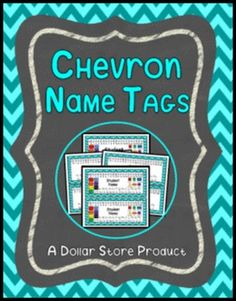 This set includes your choice of 7 different EDITABLE chevron-themed desk name plates.  Some styles allow for typing larger font first names.  Other styles allow for typing first and last names.  There is also a plain name tag that can be used to label cubbies, etc...