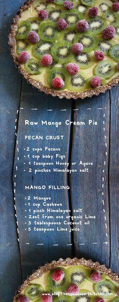 Raw Mango Cream Pie by The Raw Dessert Kitchen. #paleo