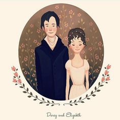 """""""In vain I have struggled, it will not do. My feelings will not be repressed. You must allow me to tell you how ardently I admire and love you"""". - Jane Austen, Pride and Prejudice. ❤️ Ilustração de Diana Pedott - Z Vitamini Darcy And Elizabeth, Elizabeth Bennet, Zombies, Pride And Prejudice 2005, Jane Austen Novels, Creation Photo, Fanart, Family Illustration, Art Illustrations"""