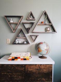 Set of 6 Barnwood Shelves / barnwood decor, barn wood shelf, triangle shelves, pallet wood art, rustic home decor, rustic wall decor by infiniteabyss on Etsy https://www.etsy.com/listing/510345059/set-of-6-barnwood-shelves-barnwood-decor
