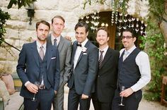 Snippets, Whispers & Ribbons - Chic Vintage Brides - Mismatched Groomsmen on The Southbound Bride - Wedding Matches, Wedding Groom, Wedding Pics, Wedding Attire, Perfect Wedding, Wedding Styles, Wedding Day, Wedding Parties, Wedding Stuff